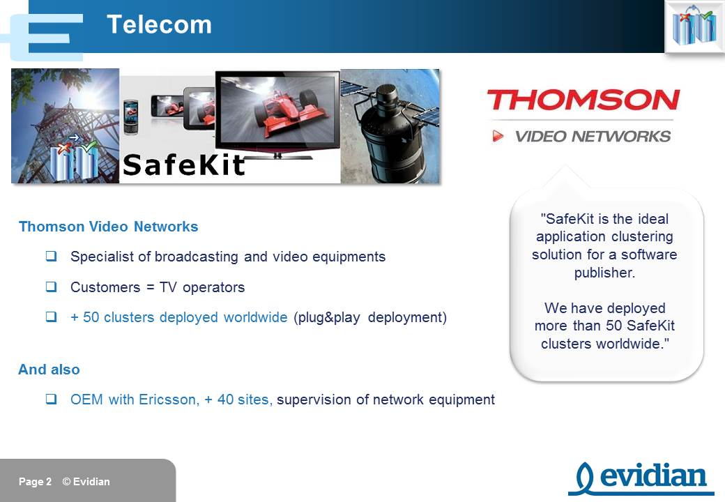 Evidian SafeKit Training - Customers - Slide 2