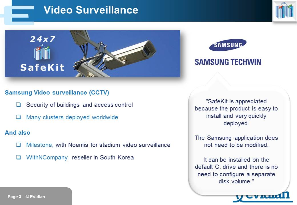 Evidian SafeKit Training - Customers - Slide 3