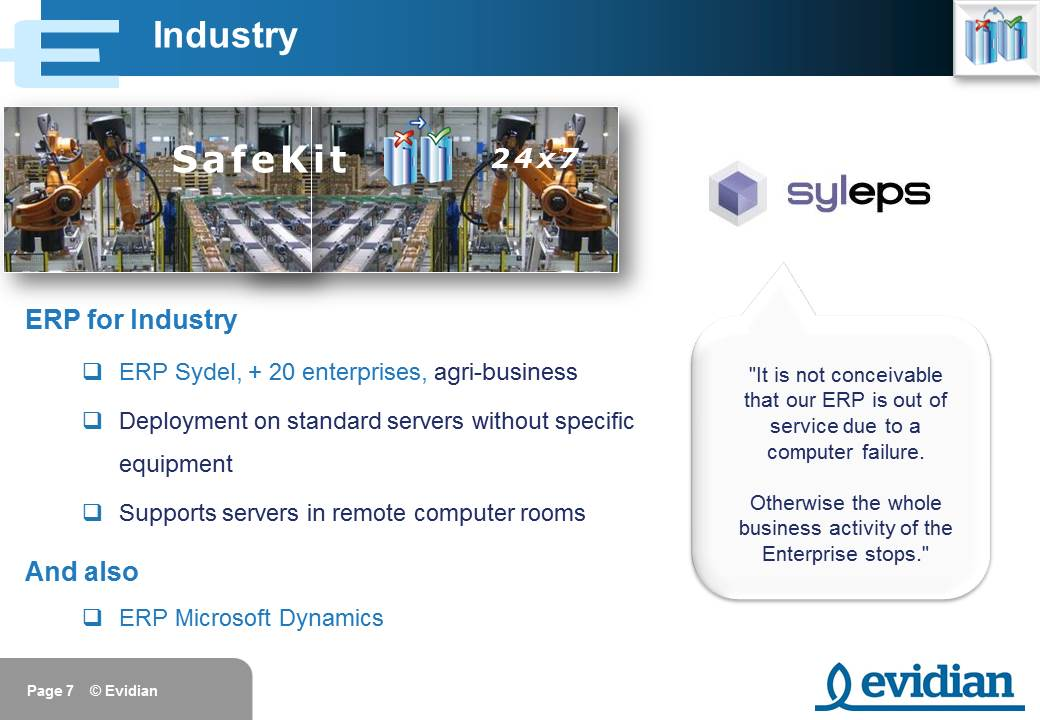 Evidian SafeKit Training - Customers - Slide 7