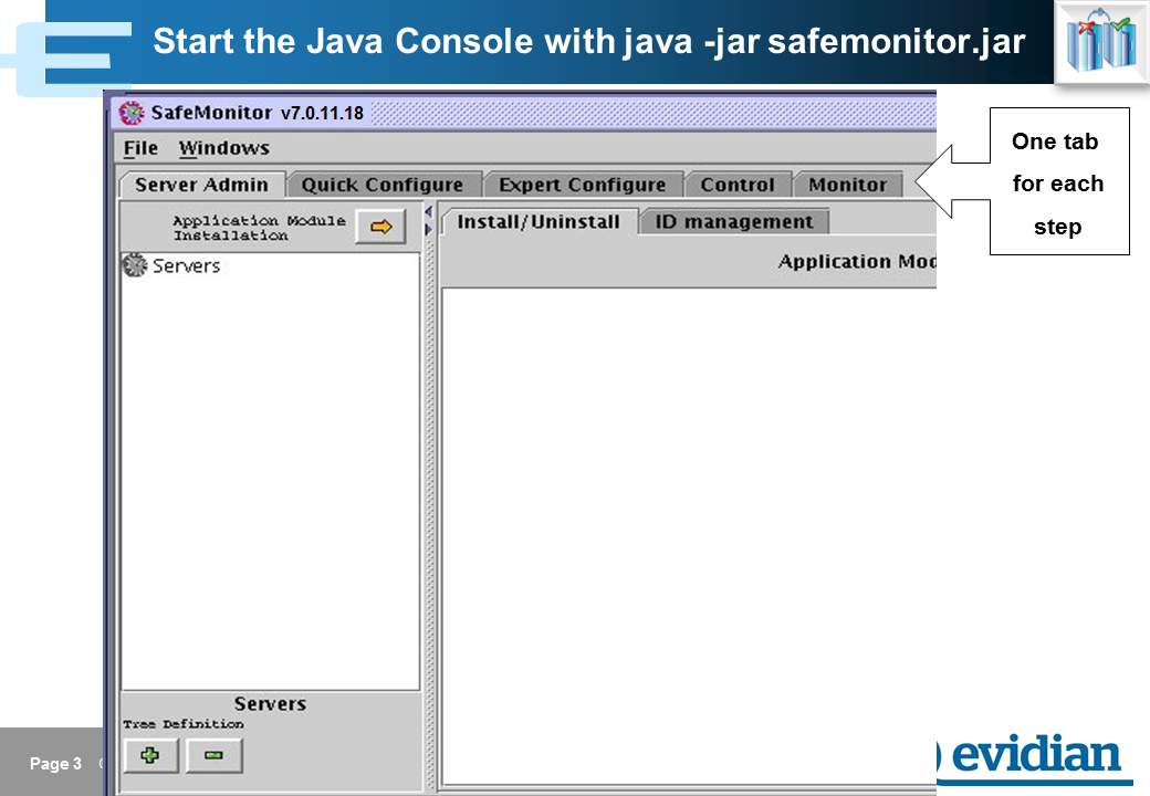 Evidian SafeKit Training - Java Management Console - Slide 3
