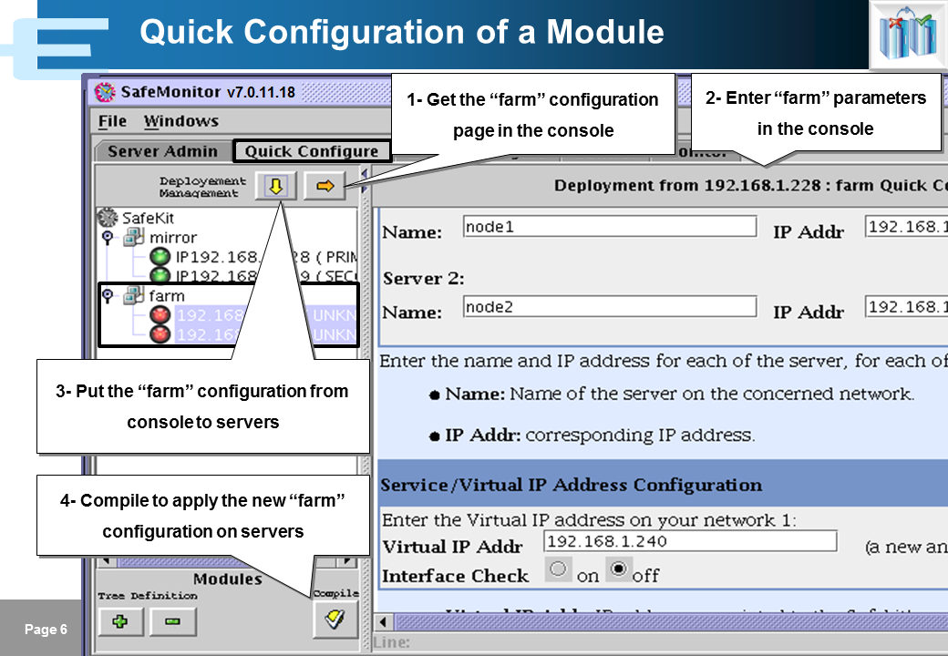 Evidian SafeKit Training - Java Management Console - Slide 6