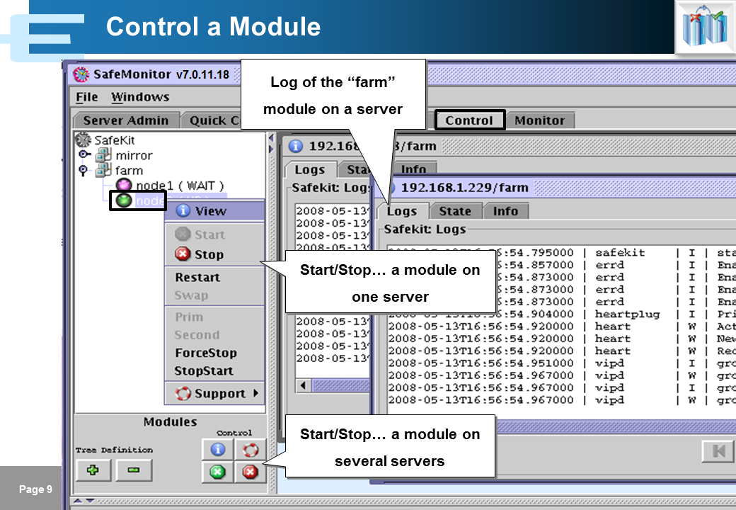 SafeKit 7 1 Training - Java Management Console - Evidian