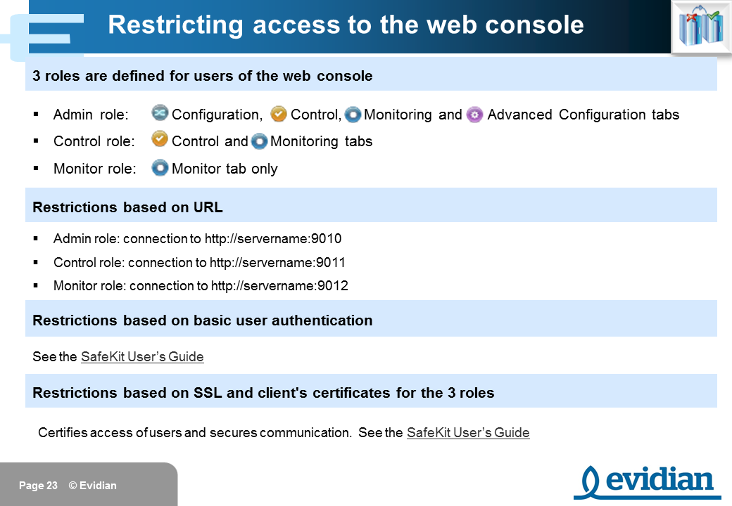 Evidian SafeKit Training - Management Console Web - Slide 23