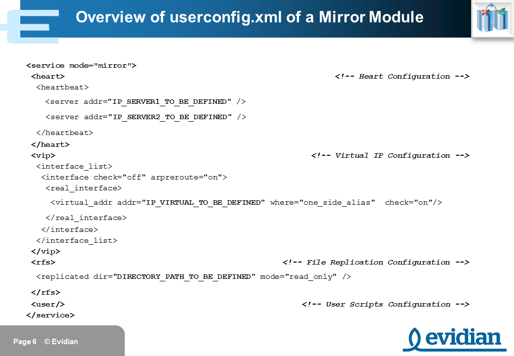 Evidian SafeKit Training - Mirror Module Configuration - Slide 6