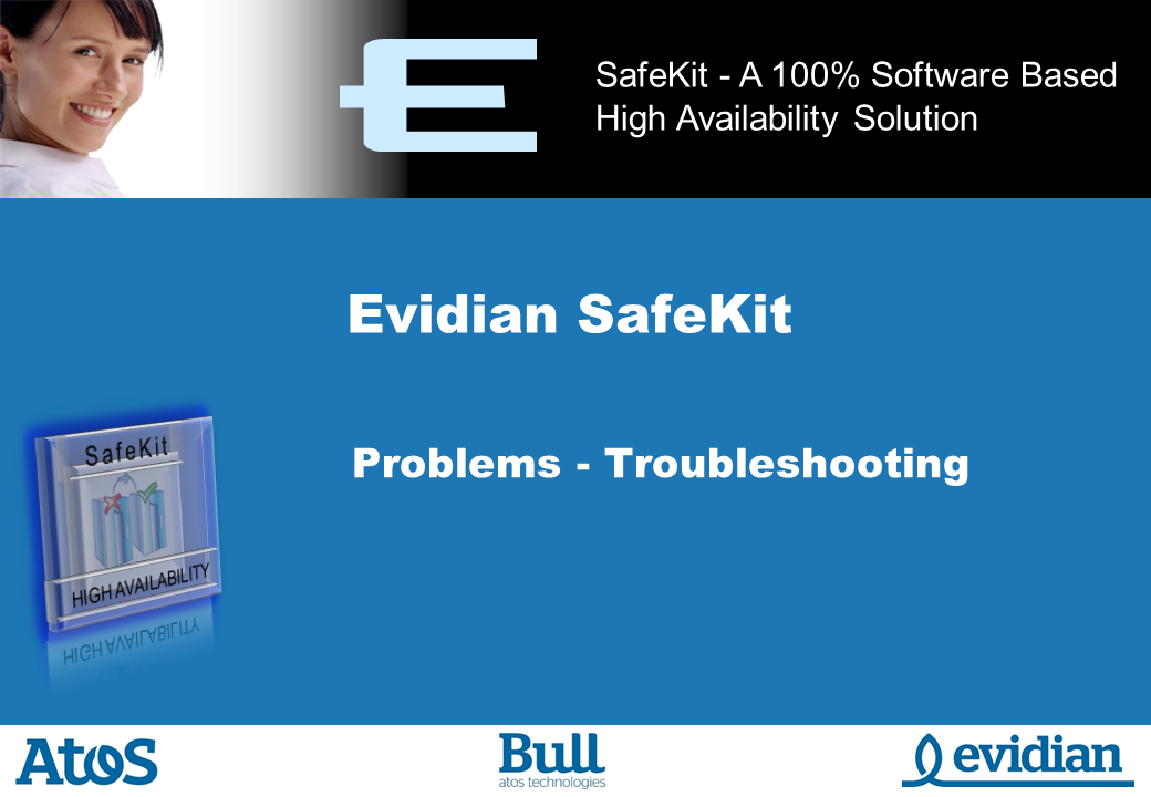 Evidian SafeKit Training - Troubleshooting - Slide 1