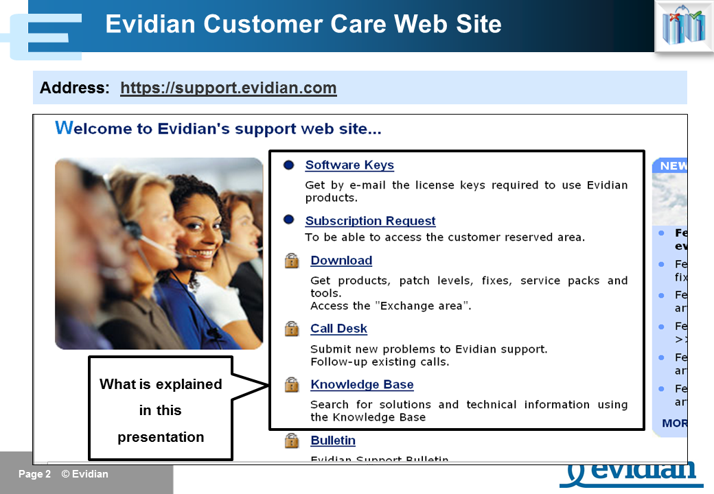Evidian SafeKit Training - Support - Slide 2