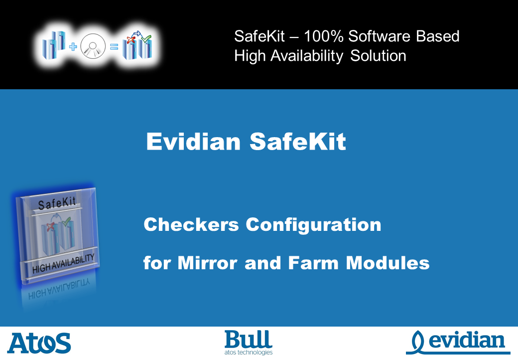 Evidian SafeKit Training - Checkers Configuration - Slide 1