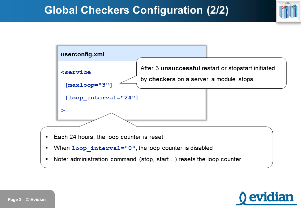 Evidian SafeKit Training - Checkers Configuration - Slide 3