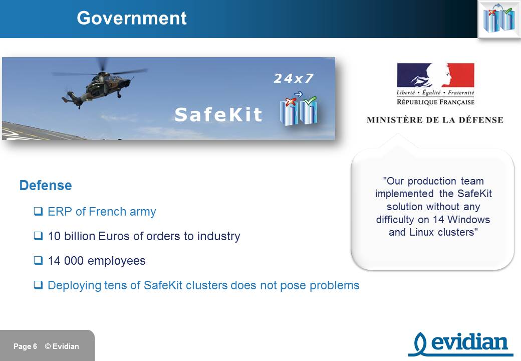 Evidian SafeKit Training - Customers - Slide 6
