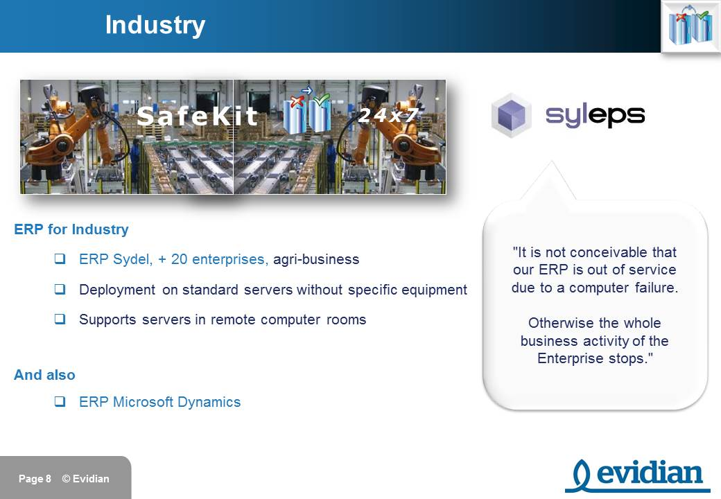 Evidian SafeKit Training - Customers - Slide 8