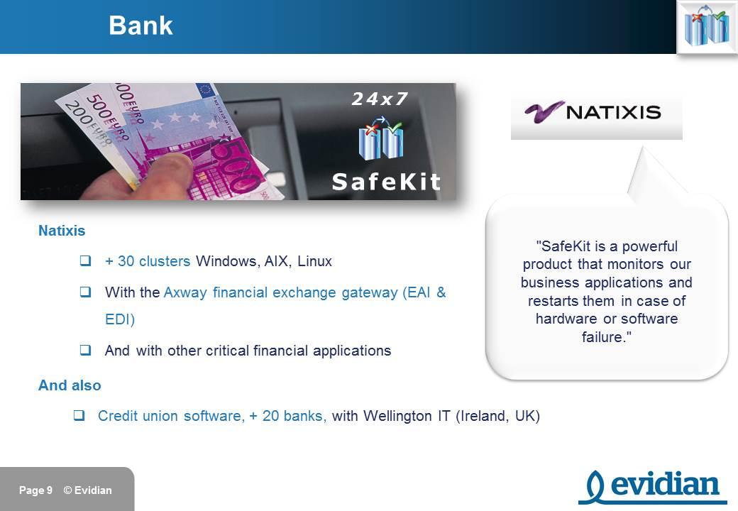 Evidian SafeKit Training - Customers - Slide 9