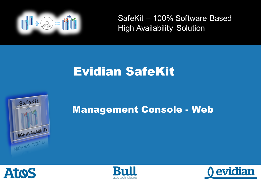 Evidian SafeKit Training - Management Console Web - Slide 1