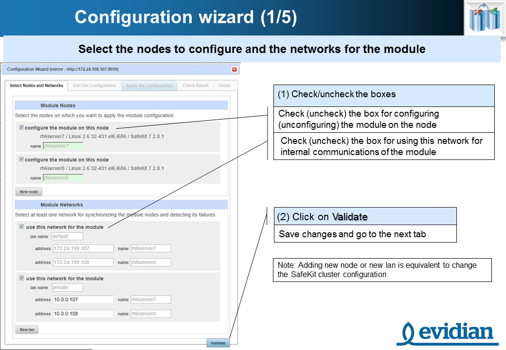 Evidian SafeKit Training - Management Console Web - Slide 12