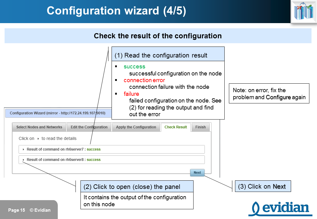 Evidian SafeKit Training - Management Console Web - Slide 15