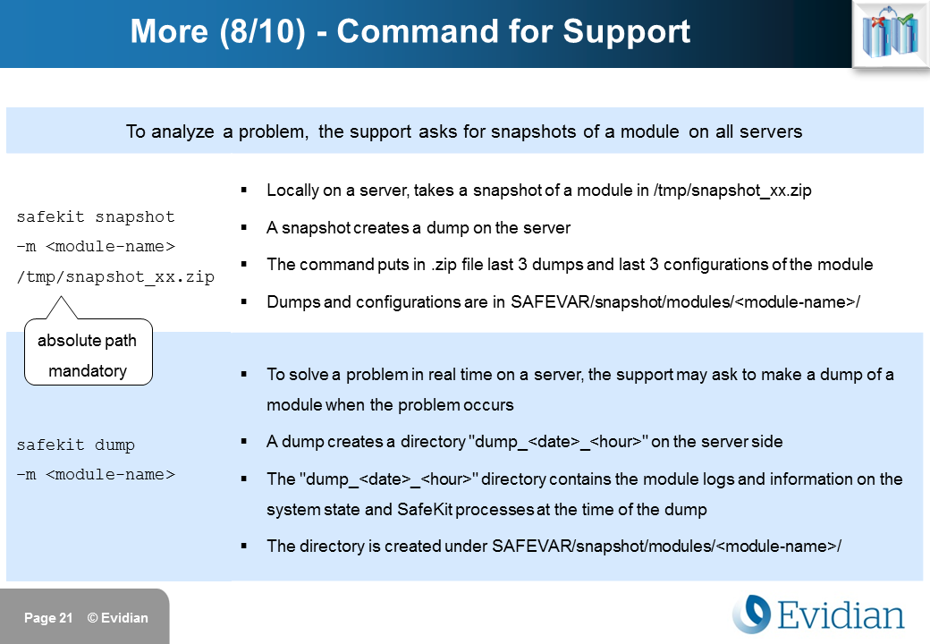 Evidian SafeKit Training - Command Line Interface - Slide 21