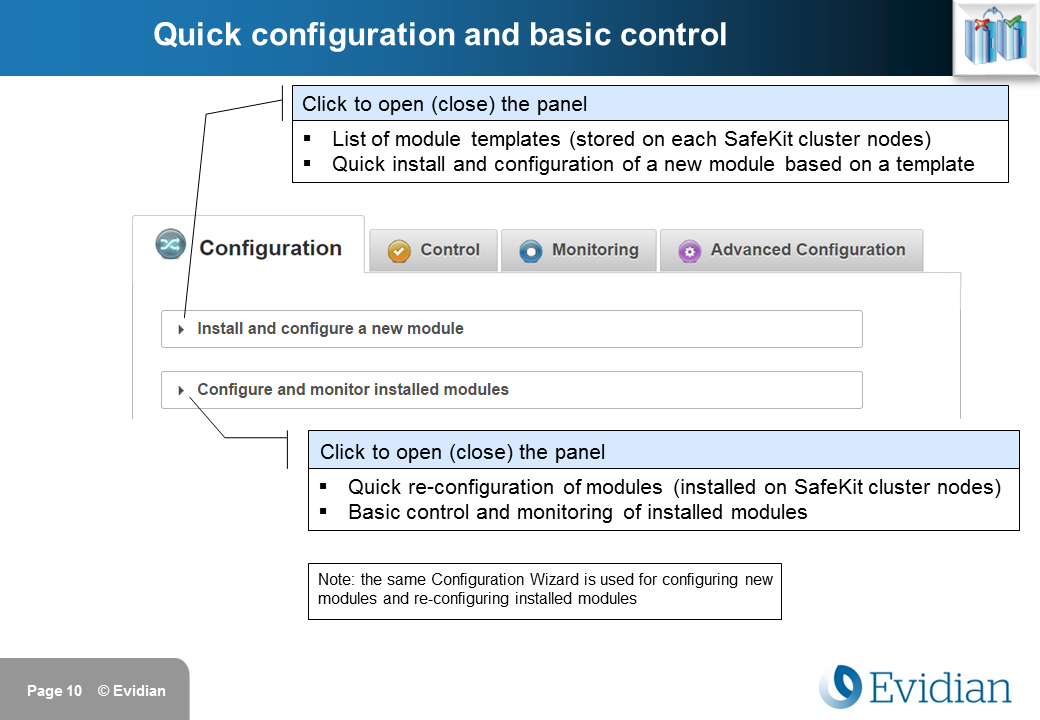 Evidian SafeKit Training - Management Console Web - Slide 10