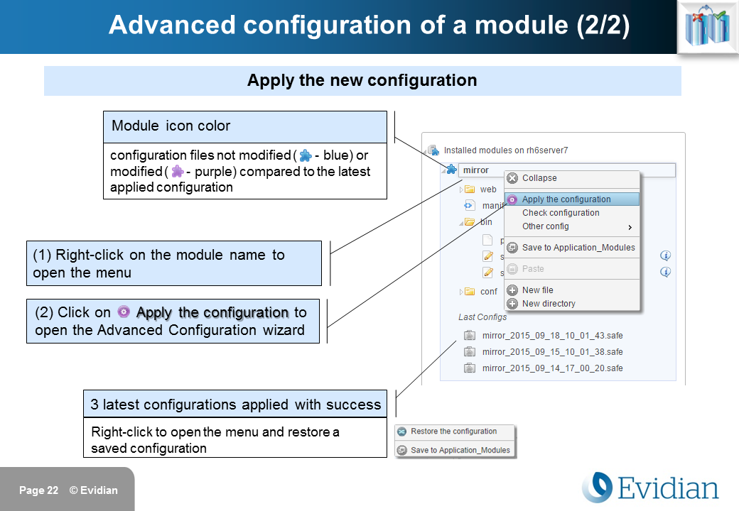 Evidian SafeKit Training - Management Console Web - Slide 22