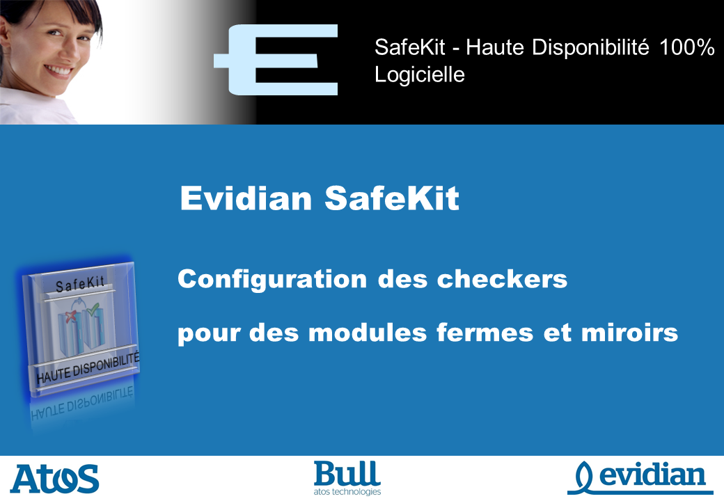 Formation à Evidian SafeKit - Configuration des checkers - Slide 1