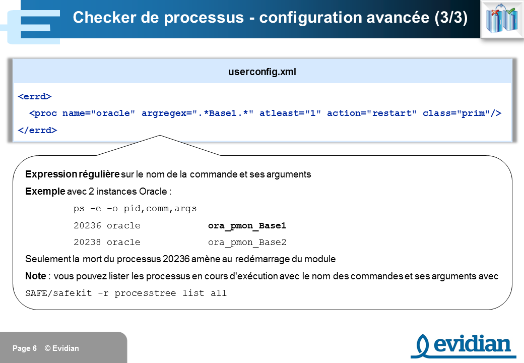 Formation à Evidian SafeKit - Configuration des checkers - Slide 6