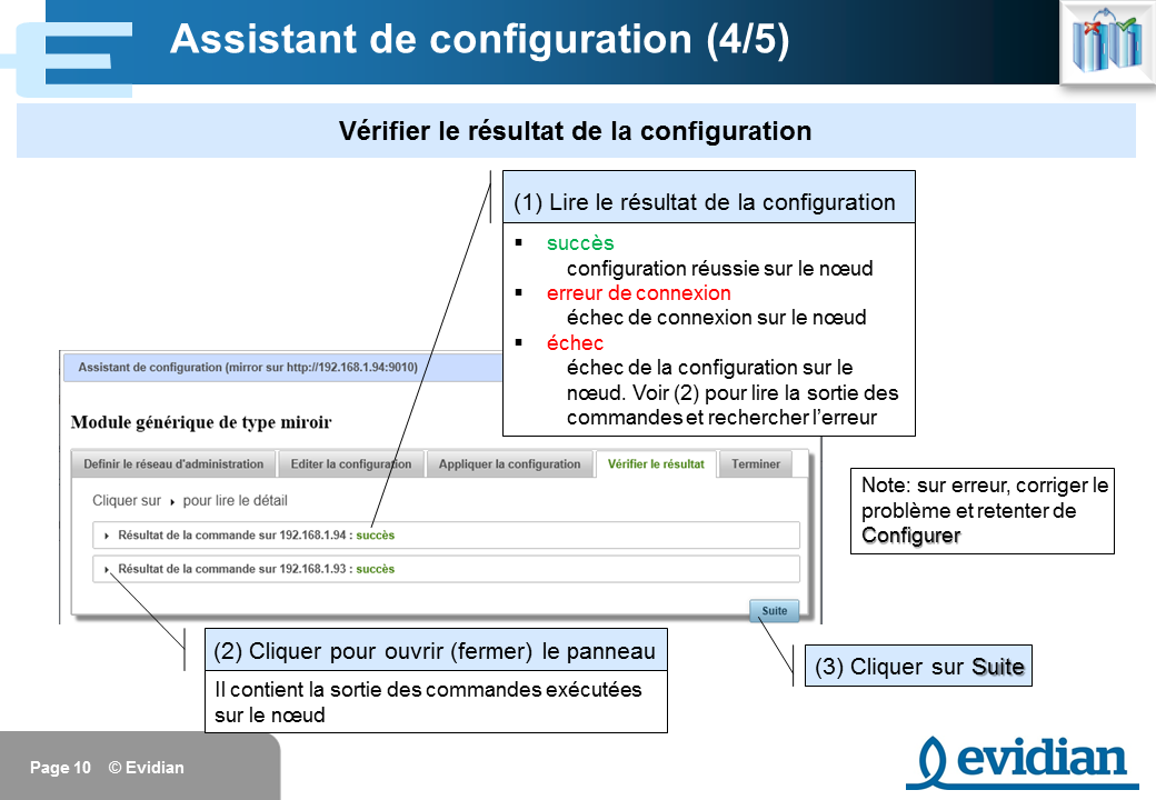 Formation à Evidian SafeKit - Console de gestion web - Slide 10