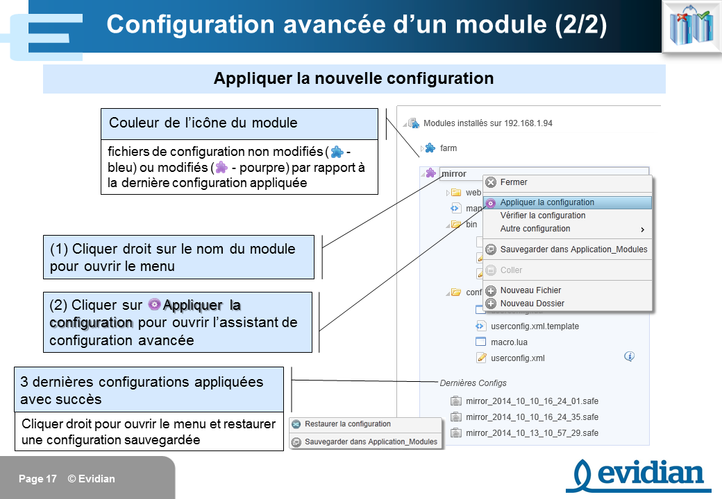Formation à Evidian SafeKit - Console de gestion web - Slide 17