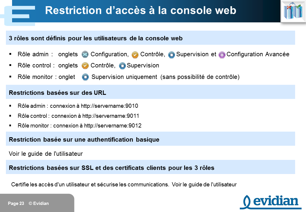 Formation à Evidian SafeKit - Console de gestion web - Slide 23