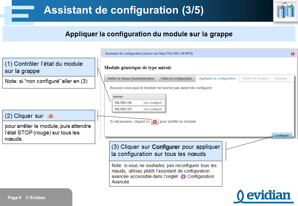 Formation à Evidian SafeKit - Console de gestion web - Slide 9