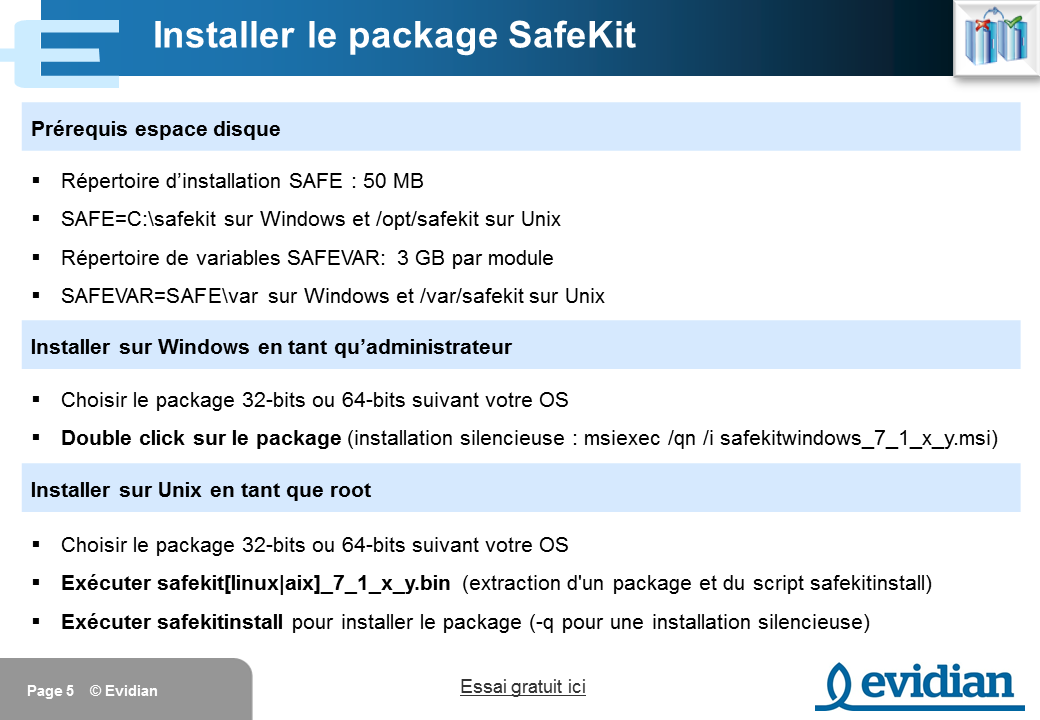 Formation à Evidian SafeKit - Installation - Slide 5