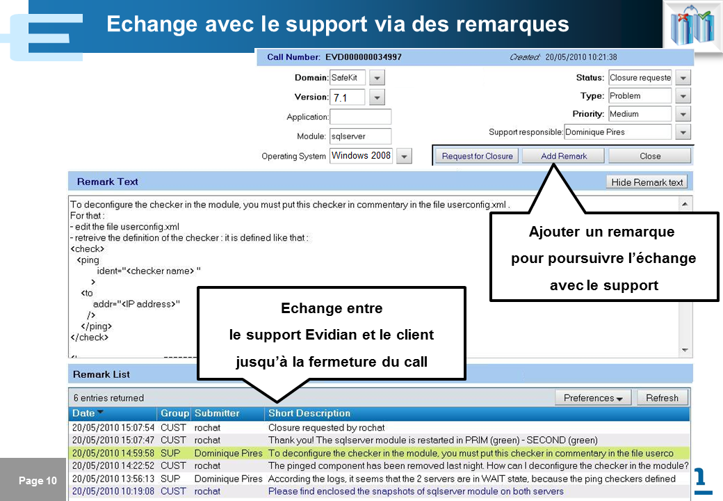 Formation à Evidian SafeKit - Support - Slide 10