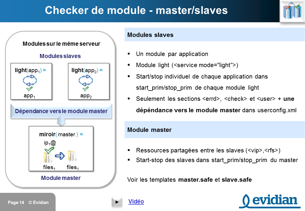 Formation à Evidian SafeKit - Configuration des checkers - Slide 14