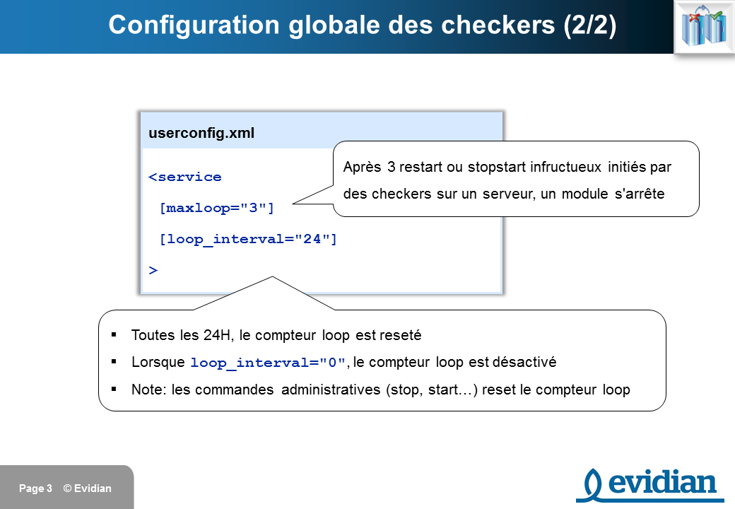 Formation à Evidian SafeKit - Configuration des checkers - Slide 3