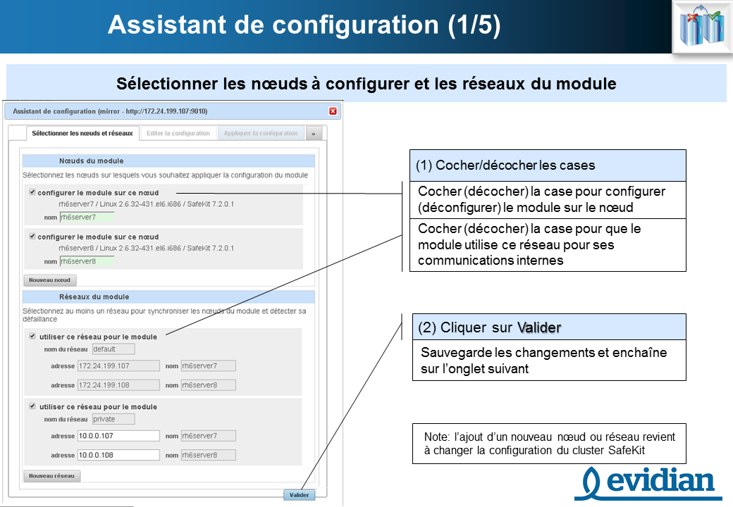 Formation à Evidian SafeKit - Console de gestion web - Slide 12