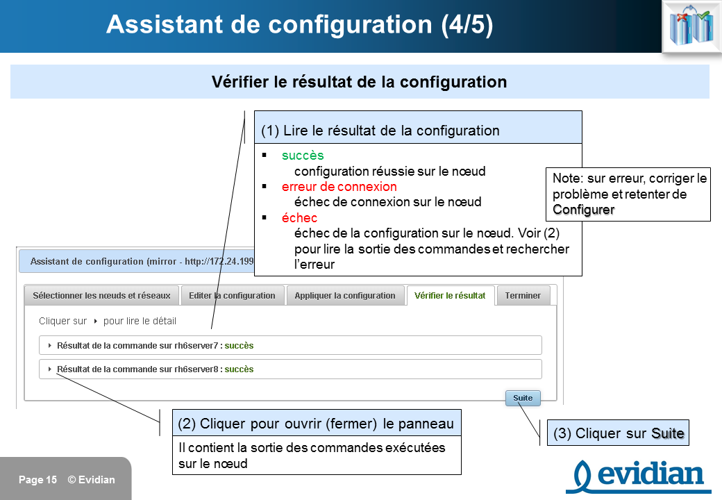 Formation à Evidian SafeKit - Console de gestion web - Slide 15