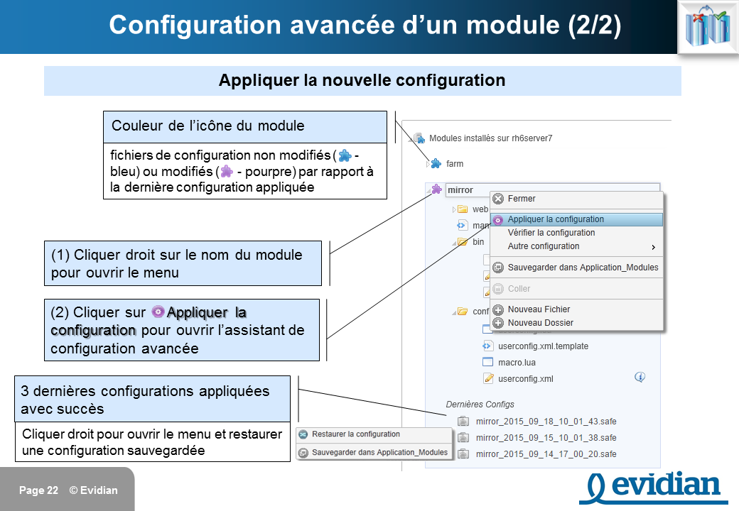 Formation à Evidian SafeKit - Console de gestion web - Slide 22