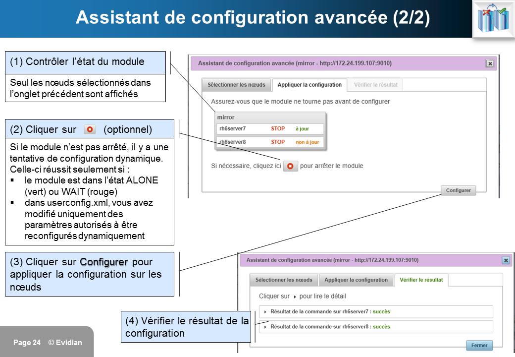 Formation à Evidian SafeKit - Console de gestion web - Slide 24