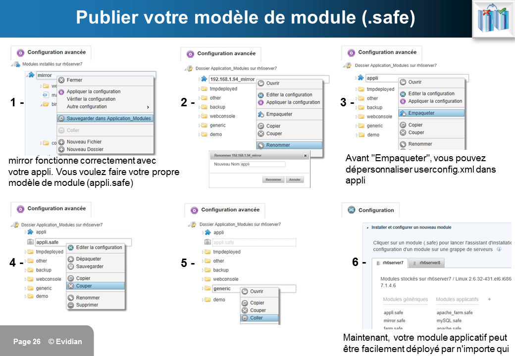 Formation à Evidian SafeKit - Console de gestion web - Slide 26