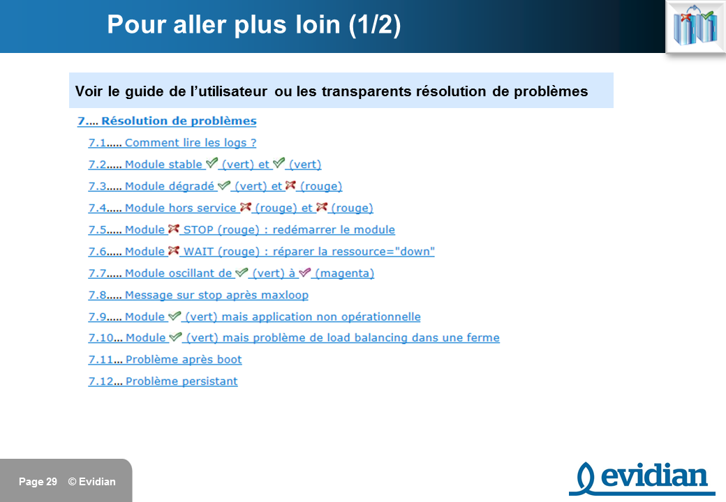 Formation à Evidian SafeKit - Console de gestion web - Slide 29