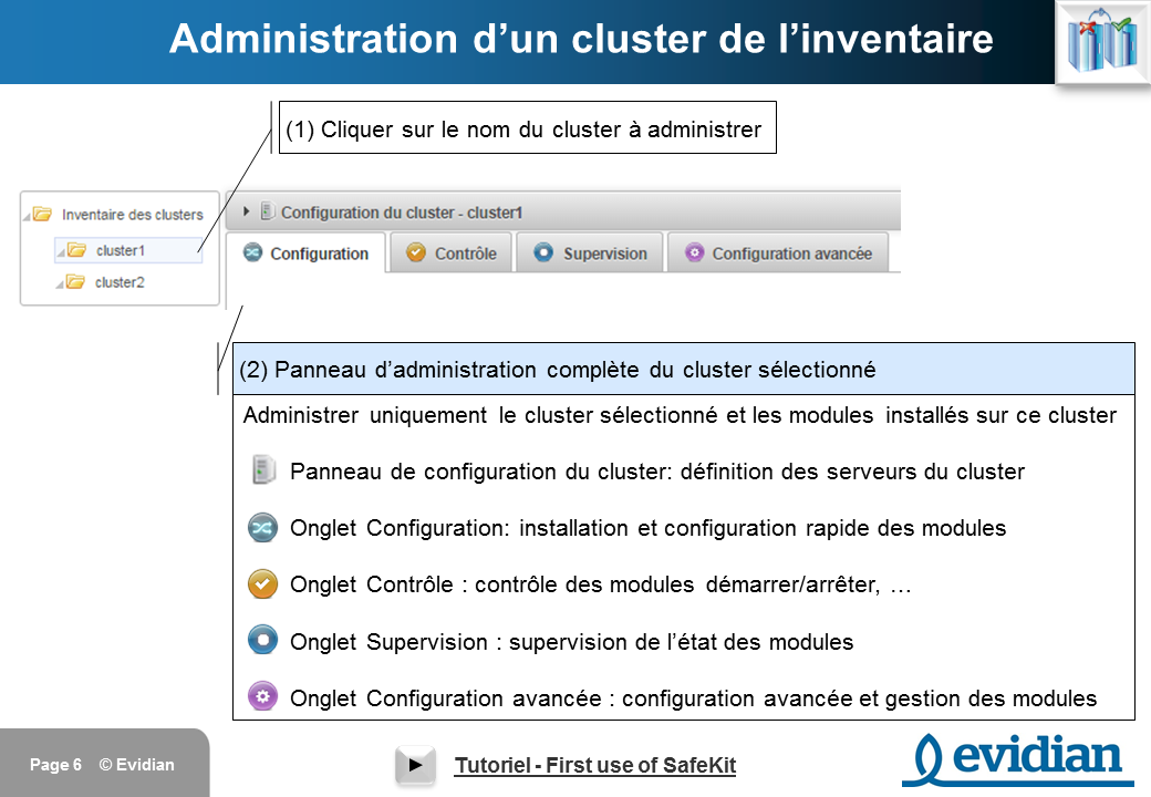 Formation à Evidian SafeKit - Console de gestion web - Slide 6