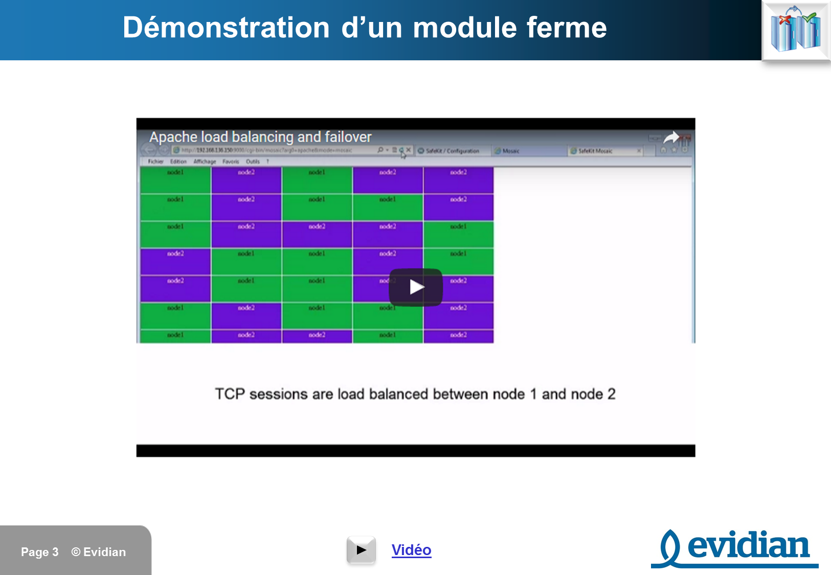 Formation à Evidian SafeKit - Videos - Slide 3
