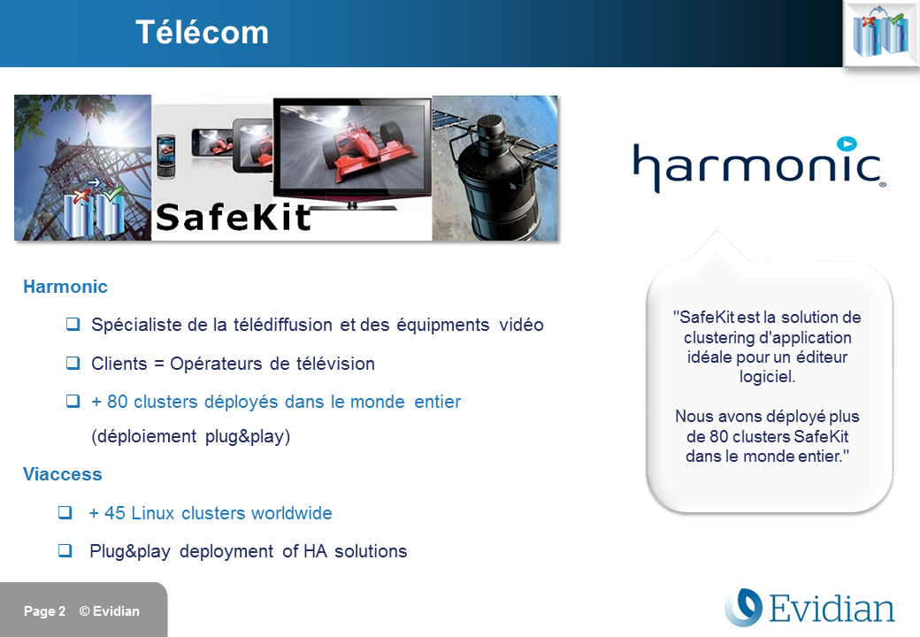 Formation à Evidian SafeKit - Clients - Slide 2
