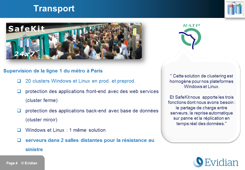 Formation à Evidian SafeKit - Clients - Slide 4