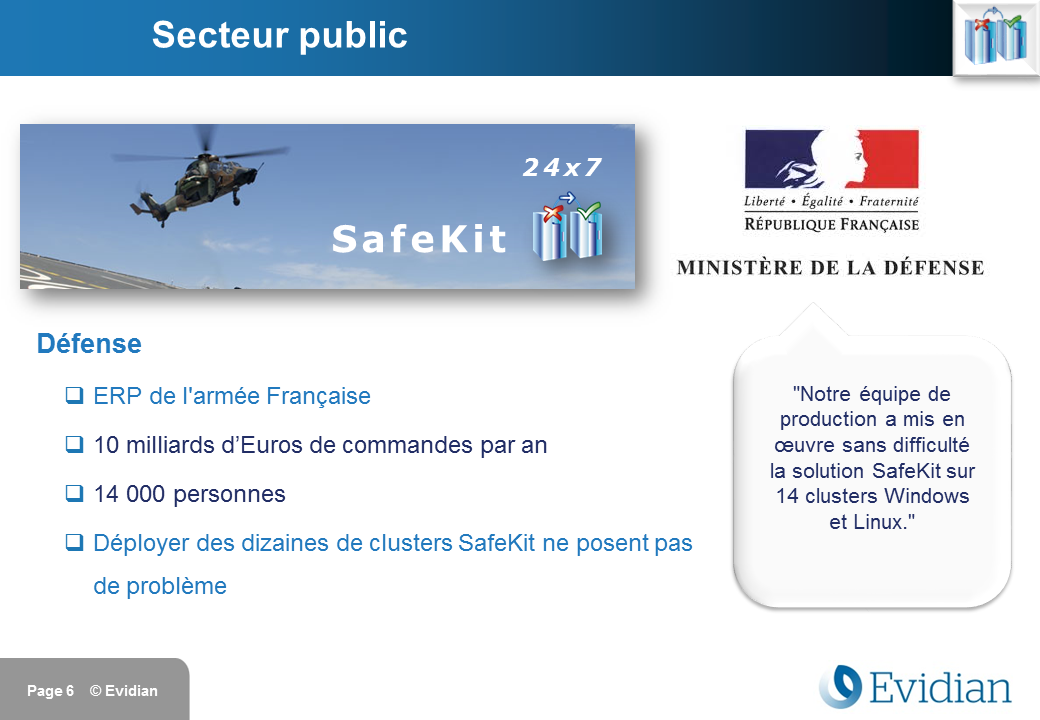 Formation à Evidian SafeKit - Clients - Slide 6