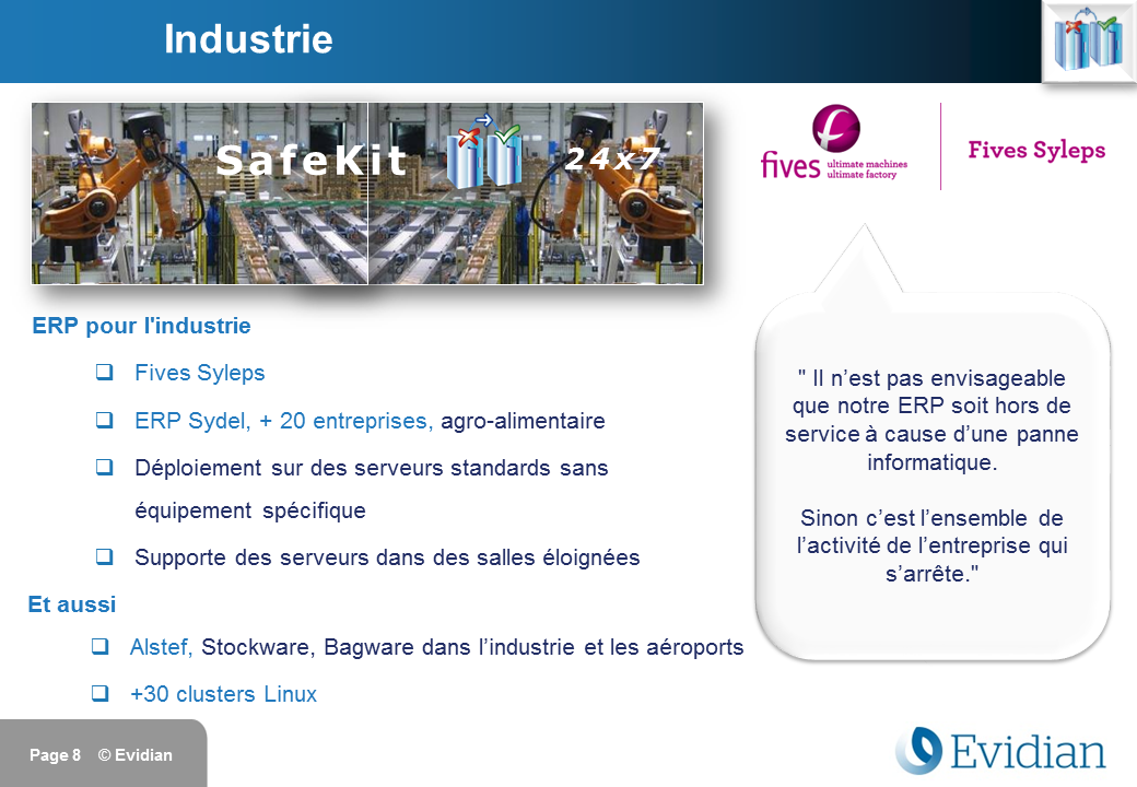 Formation à Evidian SafeKit - Clients - Slide 8