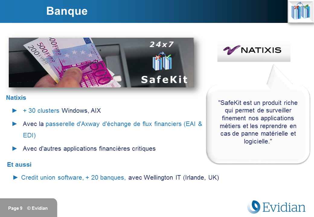 Formation à Evidian SafeKit - Clients - Slide 9
