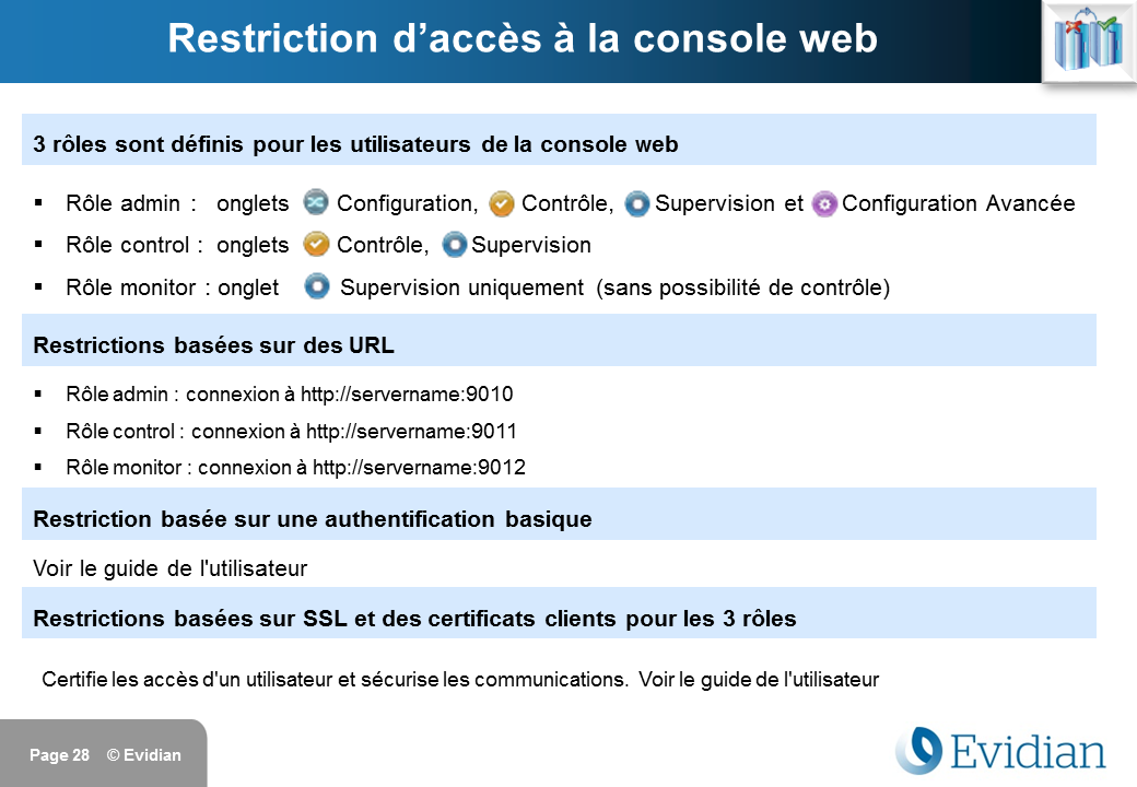 Formation à Evidian SafeKit - Console de gestion web - Slide 28