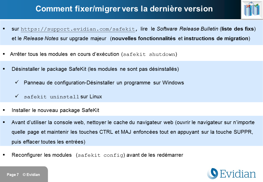 Formation à Evidian SafeKit - Installation - Slide 7