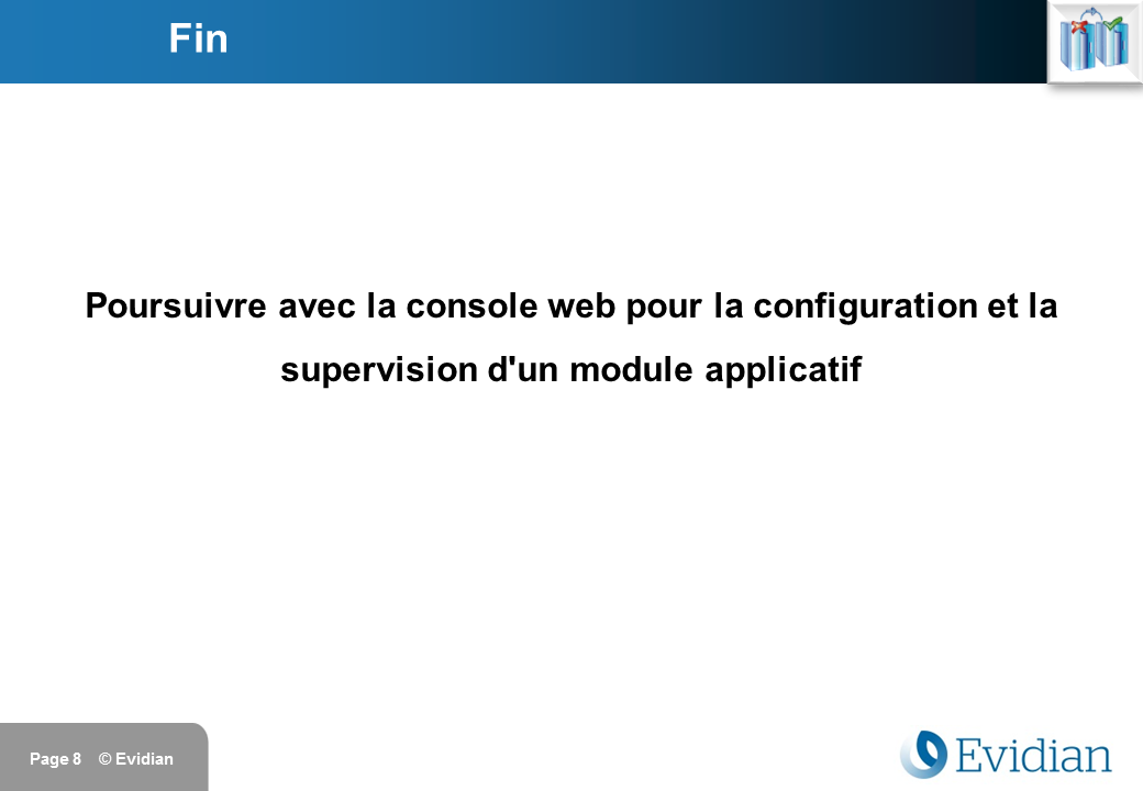 Formation à Evidian SafeKit - Installation - Slide 8
