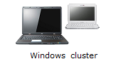 What is a server cluster built from a 100% software solution? Demonstration of a windows 7 cluster made with a laptop and a netbook