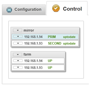 The SafeKit high availability cluster management console