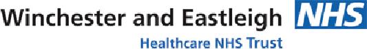 Winchester & Eastleigh Hospitals NHS (イギリス) logo